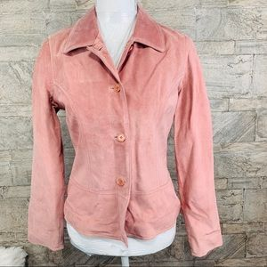 NWT Harold's Leather Pink Jacket Size Small